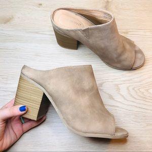 🔥Lane Bryant booties peep toe shoe block heel